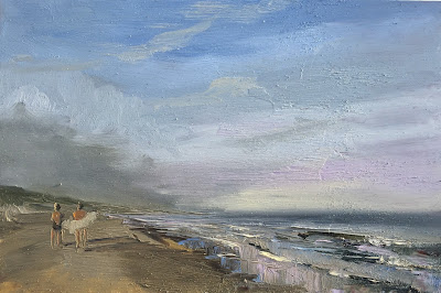 seascape, beach painting by Philine van der Vegte
