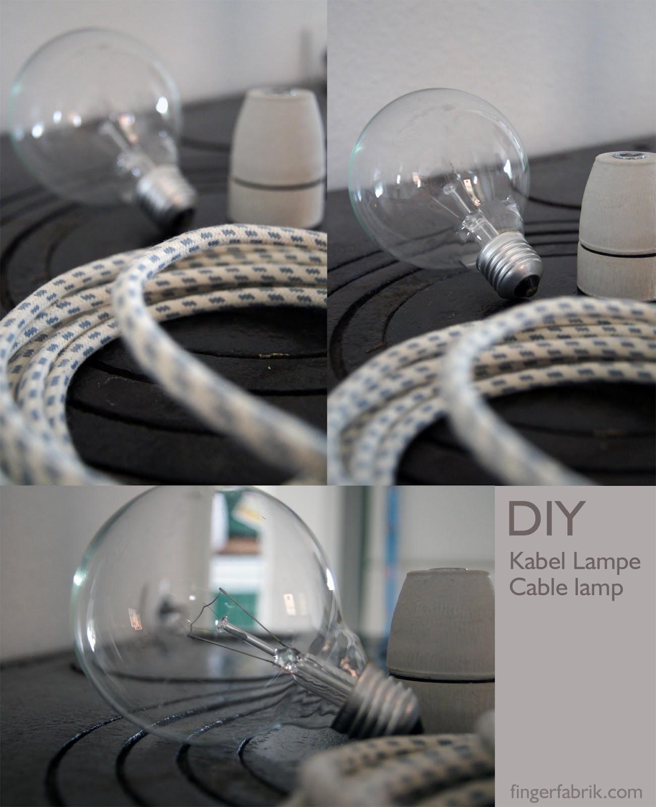 fingerfabrik diy cable lamp tutorial kabel lampe. Black Bedroom Furniture Sets. Home Design Ideas