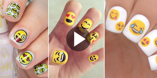 How To Create Cute Japanese Emoji Nails, See Tutorial