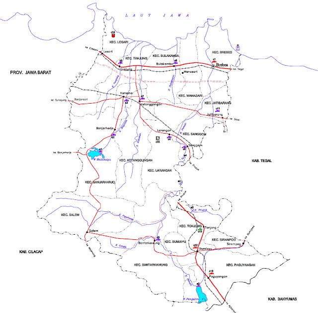 Gambar Peta infrastruktur Brebes