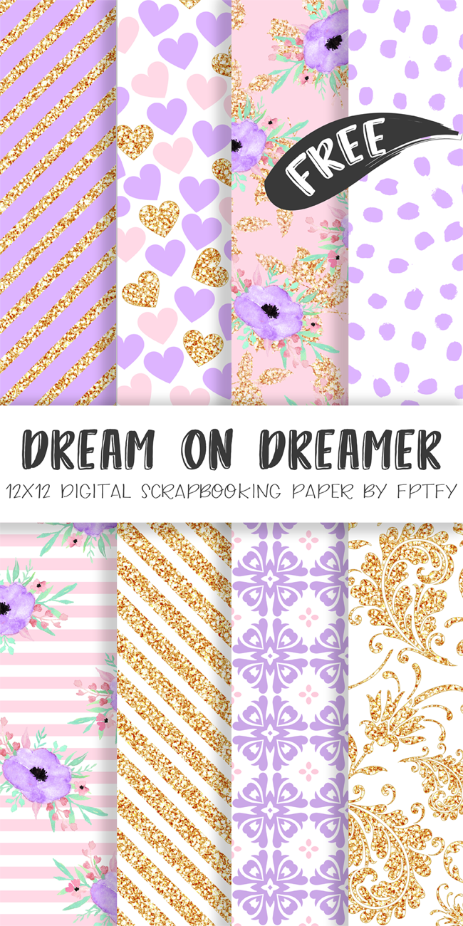 http://www.freeprettythingsforyou.com/2016/06/free-digital-paper-dream-dream-lavender-collection/