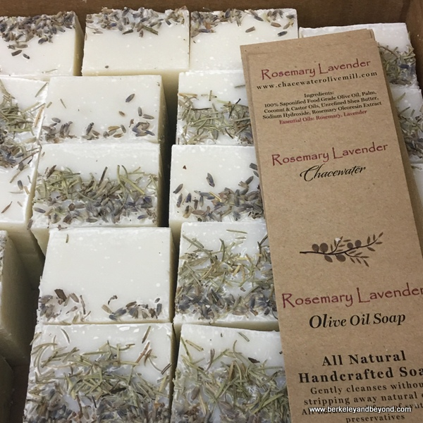 olive oil soap at Chacewater Winery and Olive Mill in Kelseyville, California