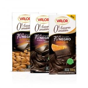 Prueba el Chocolate Valor 0% azúcares