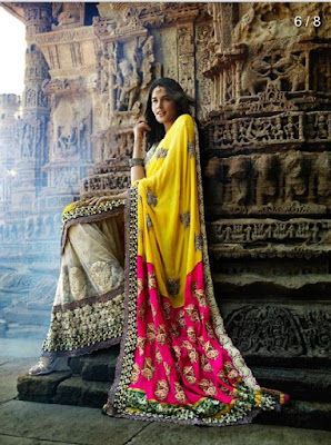 Stylish-indian-embroidered-bridal-saree-2017-for-brides-2