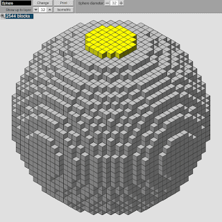 minecraft sphere template
