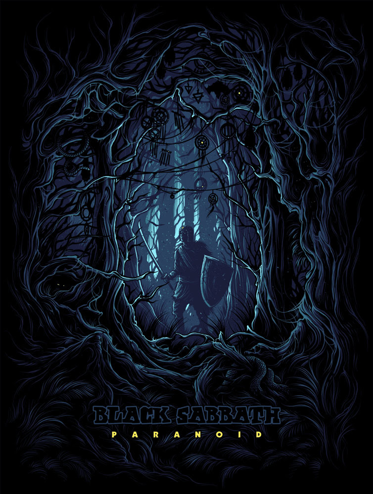Inside The Rock Poster Frame Blog Dan Mumford Black