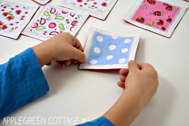 free sewing pattern for a memory game