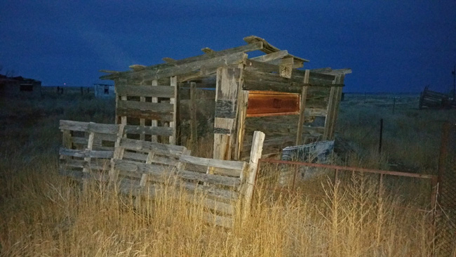 Abandoned structure in Model, Colorado ghost town