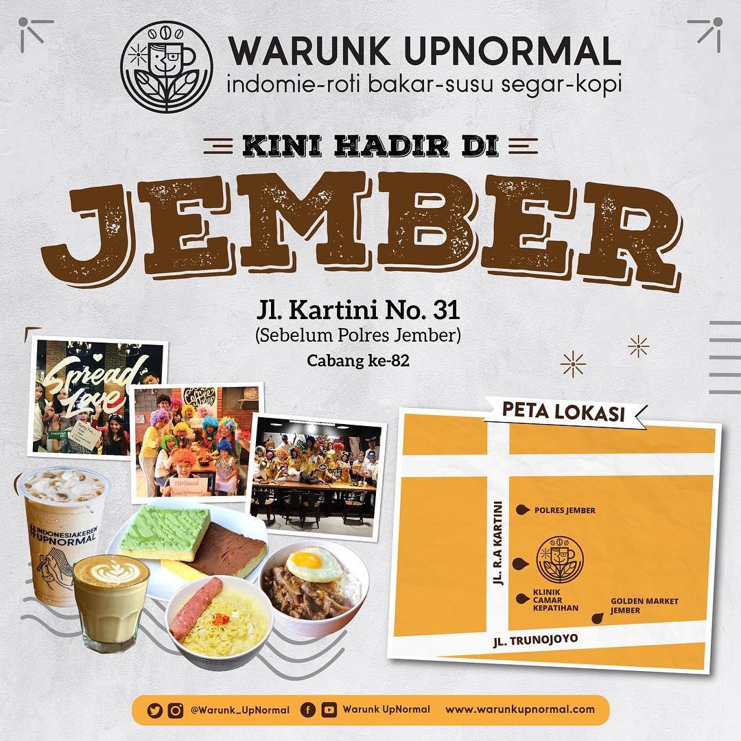 Warunk Upnormal - Promo Openning Jember + Vouvher Gratis Total 5 Juta