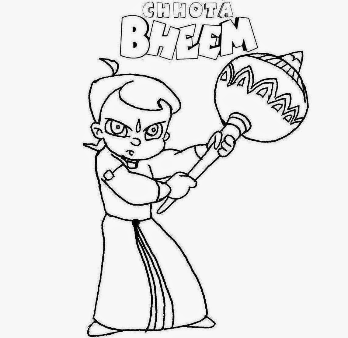 chota bheem drawing for coloring pages | Chota Bheem For Kids Colour Drawing HD Wallpaper - colours ...