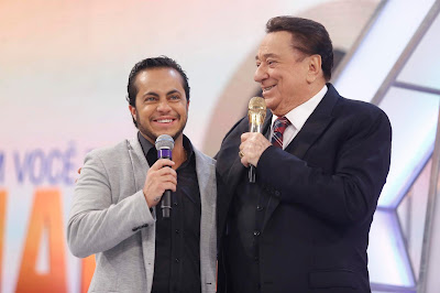 Thammy Miranda e Raul Gil (Crédito: Rodrigo Belentani/SBT)