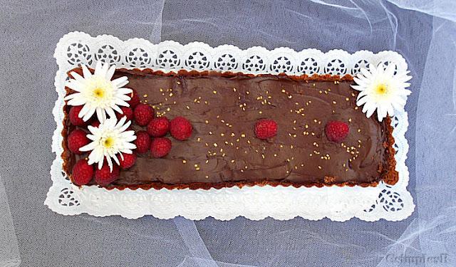 tarte de chocolate e frutos vermelhos