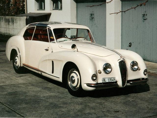 Riley 2.5 Walter Köng Saloon 1940s British concept car