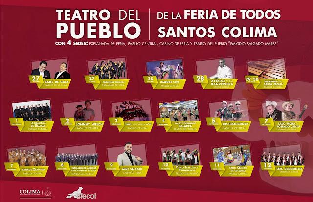 teatro del pueblo feria de todos santos colima 2017