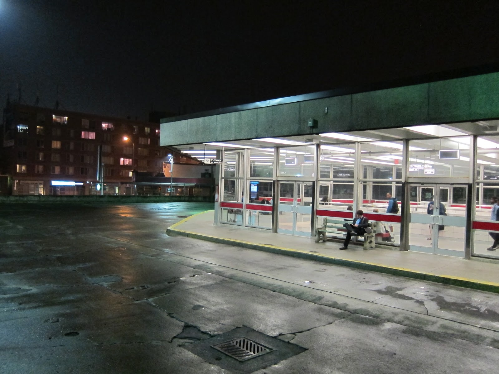 Coxwell station bus platform