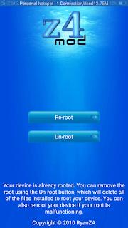 Z4Root - screenshot 1