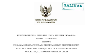 Download PKPU RI Nomor 1 Tahun 2019