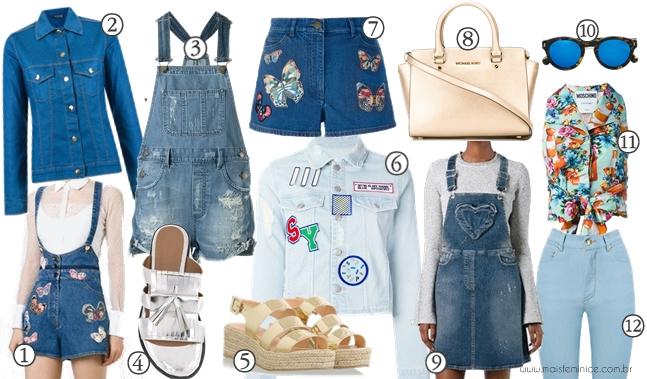 Wishlist de Primavera - Jeans e metalizado