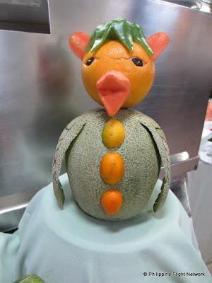 fruit art cruise ship