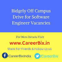 Bidgely Off Campus Drive for Software Engineer Vacancies