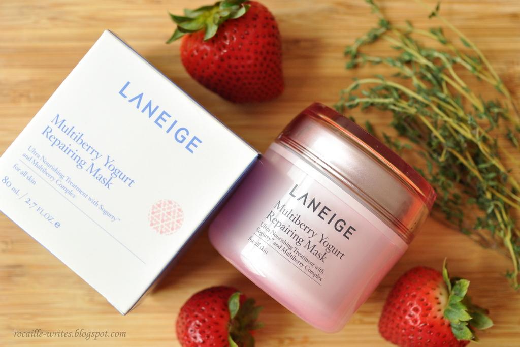 Masking with Yogurt and Strawberries: Laneige Multiberry Yogurt Repairing Mask* Review