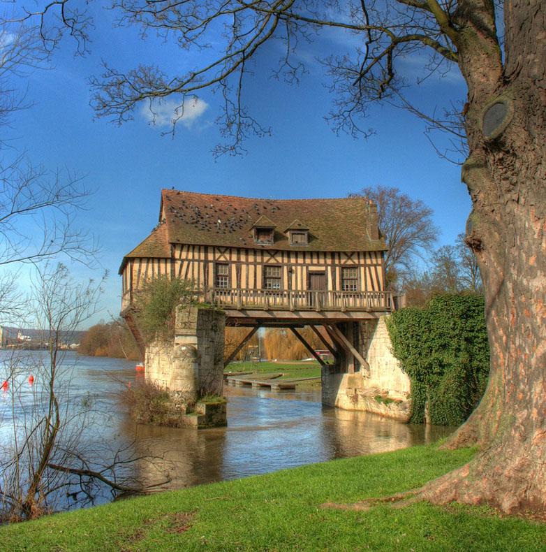 El viejo molino de Vernon | Francia