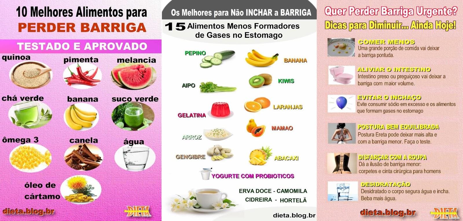 alimentos para dieta perder barriga
