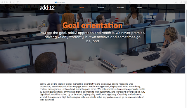 add12 Digital Marketing agency's website design example