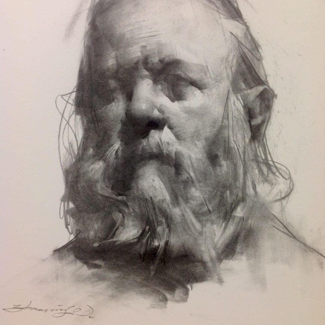 04-Life-Drawing-Zhaoming-Wu-Black-and-White-Charcoal-Portraits-www-designstack-co
