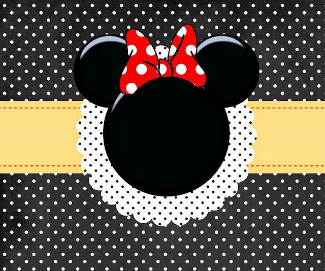 Para hacer Invitaciones, Tarjetas, Marco de Fotos para Imprimir Gratis de Minnie Mouse Rojo.
