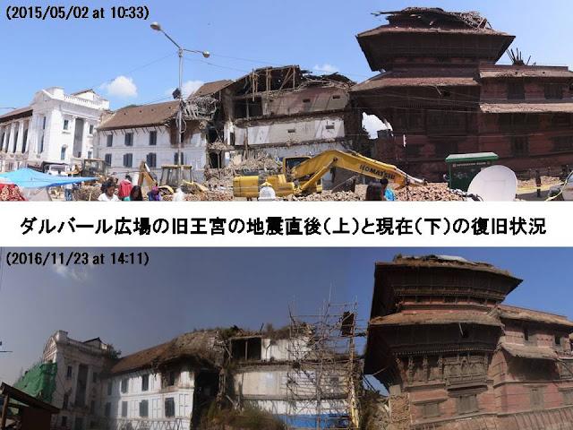 写真8 カトマンズの旧王宮の復旧状況