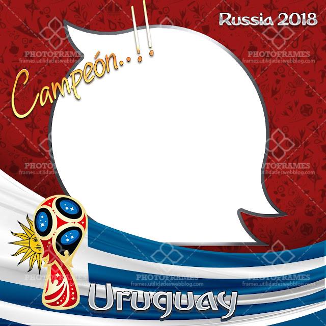 marco para fotos de Uruguay con motivo al mundial de Rusia 2018