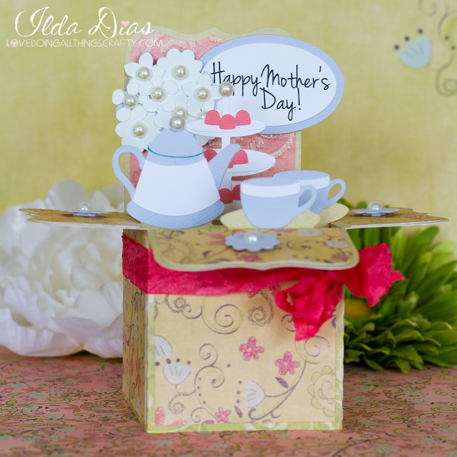 Happy Mother's Day - Tea Time Box Cards | SVGCuts Files