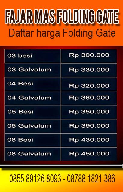 FAJAR MAS FOLDING DOOR PVC JAKARTA BEKASI BOGOR