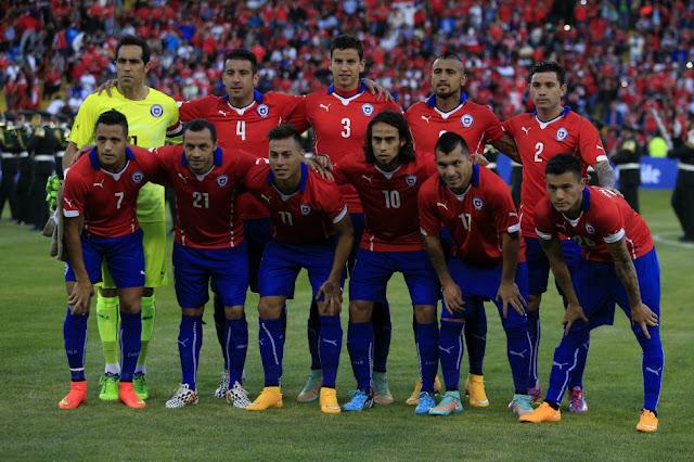 Formación de Chile ante Venezuela, amistoso disputado el 14 de noviembre de 2014