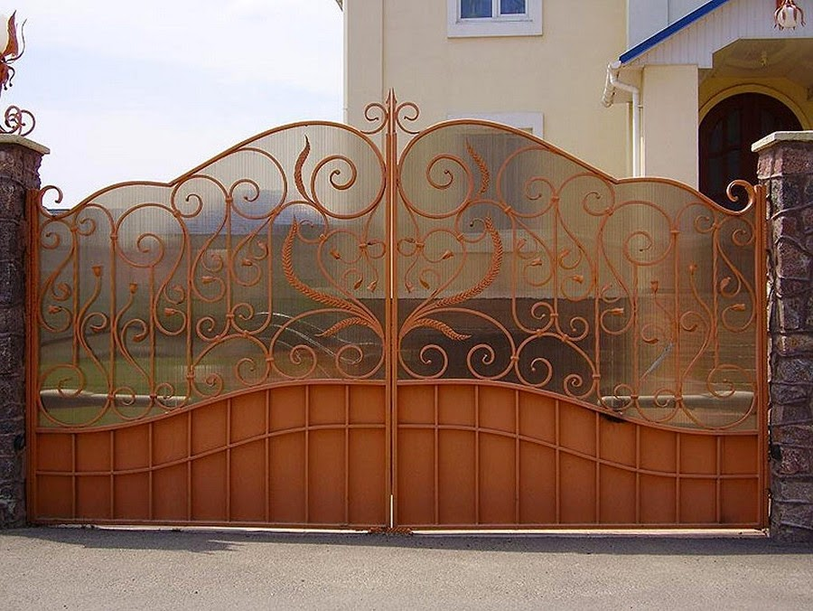 Кованые ворота и калитки картинки