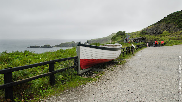 Aparcamiento Carrick a Rede Rope Irlanda del Norte