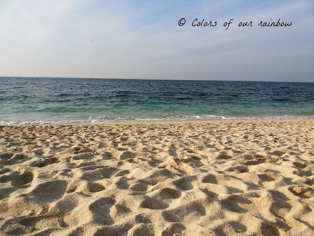 The beaches in UAE in winter
