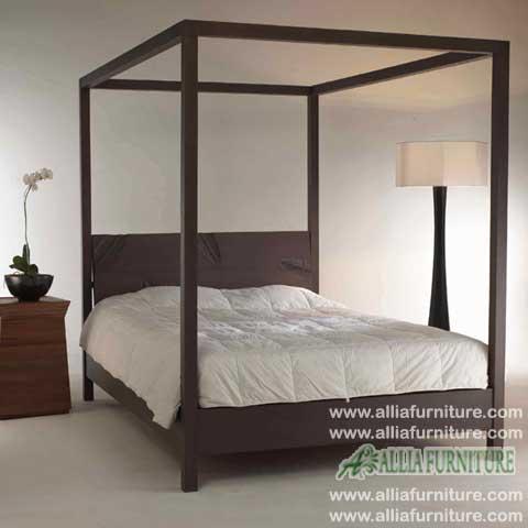 tempat tidur kanopi minimalis leaf