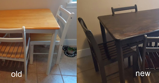 Voila! Renewed Kitchen Table and Chairs