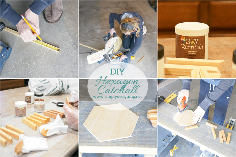 How to make a wood Catchall | click the photo to see how to create this really cool layered hexagon catchall | #diy #homedeor #crafts #spon #farmsmatter #hexagon