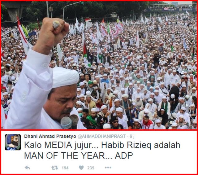 Ahmad Dhani: Kalau Media Jujur, Habib Rizieq Adalah MAN OF THE YEAR! : kabar Terhangat Hari Ini