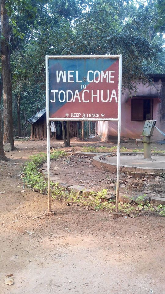 The welcome signboard