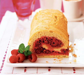 raspberry and passion fruit sponge roll recipe