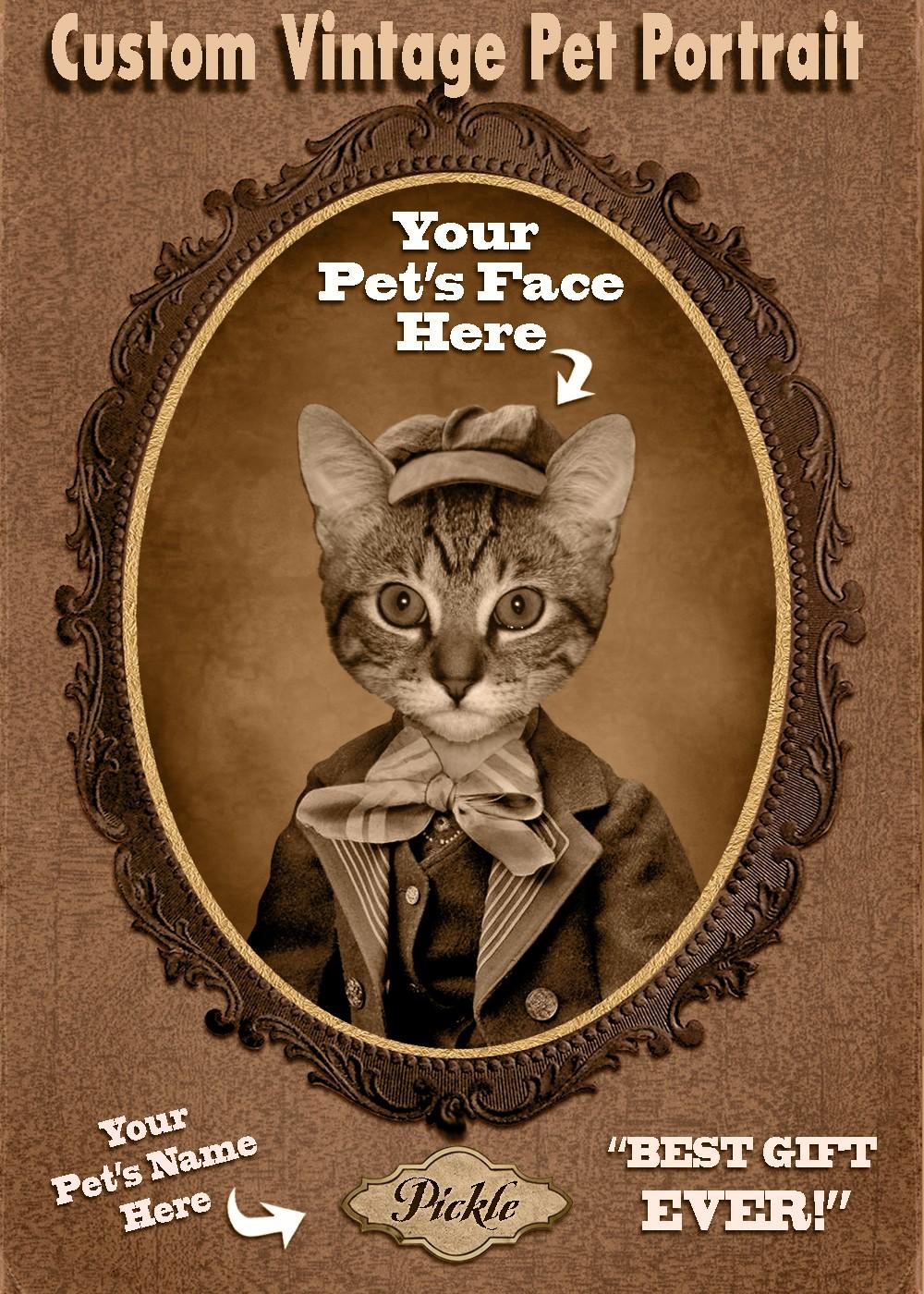 a91e64d630d3 Catsparella: Custom Vintage Cat Portraits by Hot Digital Dog