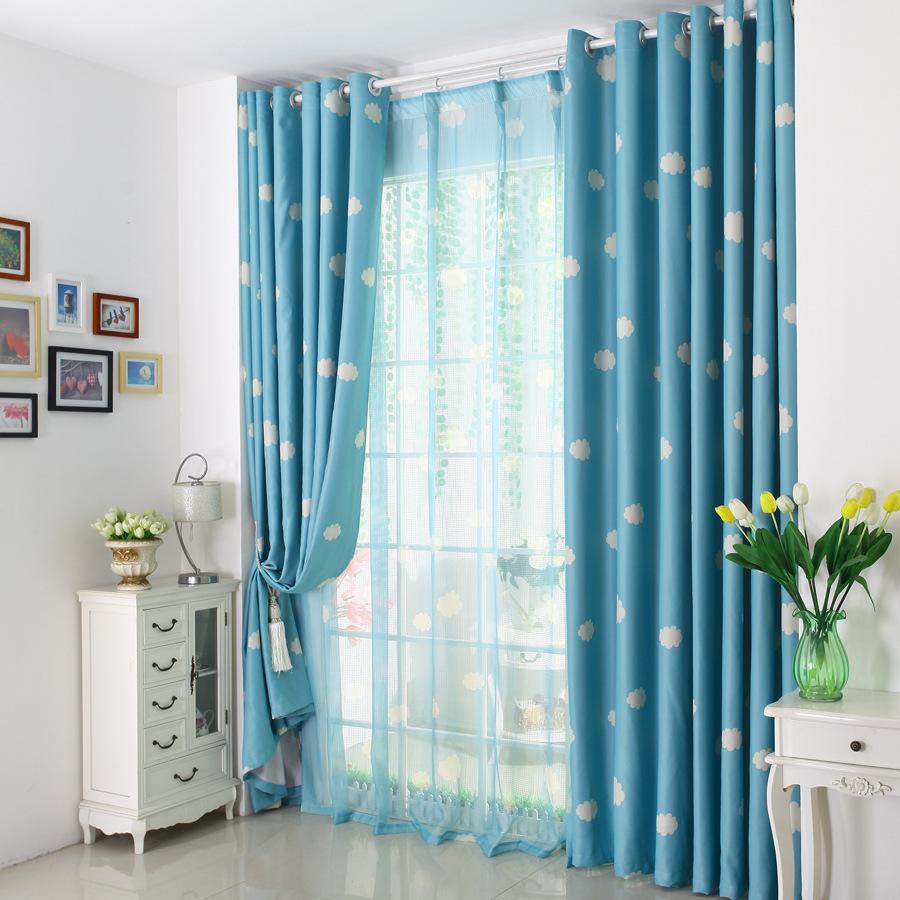 Tirai Warna Biru Untuk Ruang Tamu Minimalis Modern Inovasi