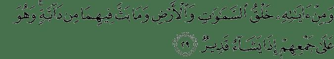 Surat Asy-Syura ayat 29