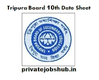 Tripura Board 10th Date Sheet