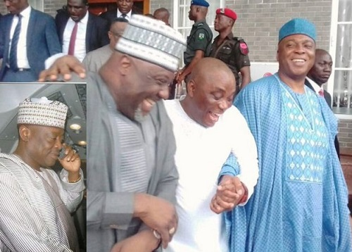 Dahiru Mangal and saraki with dino melate