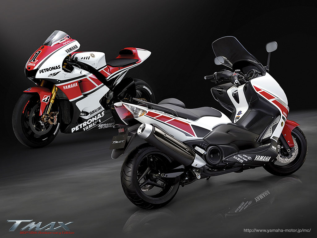 Auto Racing Helmets >> Planet Japan Blog: Yamaha TMax 500 WGP 50th Anniversary Edition 2011